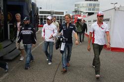 Nick Heidfeld, BMW Sauber F1 Team with Timo Glock, Toyota F1 Team, Nico Rosberg, WilliamsF1 Team and Adrian Sutil, Force India F1 Team