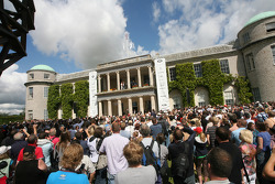 The crowd welcome Lewis to Goodwood