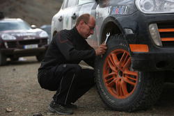 Porsche team member at work