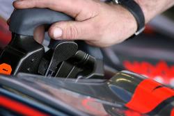 The steering wheel of Gary Paffett, Test Driver, McLaren Mercedes