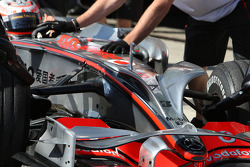 Heikki Kovalainen, McLaren Mercedes, MP4-23, with new nose wings / antler wings