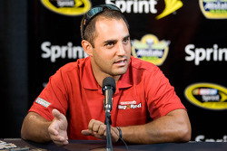 Juan Pablo Montoya during an interview