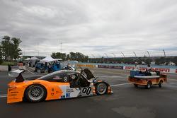 #60 Michael Shank Racing Ford Riley taken to pitlane