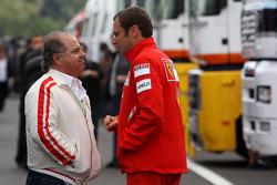 Stefano Domenicali, Scuderia Ferrari, Sporting Director and Luis Antonio Massa, Father of Felipe Massa, Scuderia Ferrari