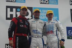 Race winner Mat Jackson, second place Adam Jones and third place Fabrizio Giovanardi