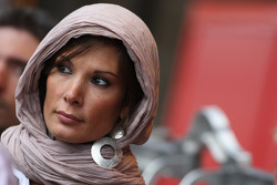 A woman in the pitlane