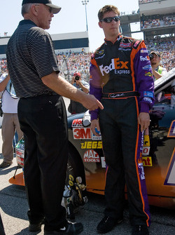 Denny Hamlin and Joe Gibbs talk
