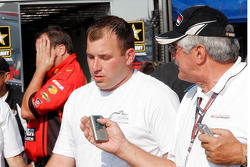 Ryan Newman gives post-race interviews
