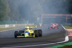 1st lap at Les Combes: Henk De Boer (NL) Racing for Business, F1 Coloni FC188 Cosworth 3.5 V8