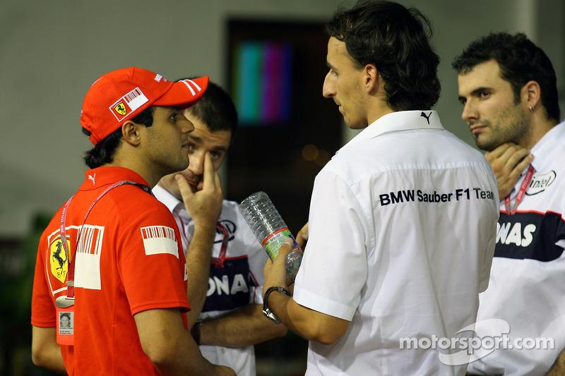 Felipe Massa, Scuderia Ferrari and Robert Kubica,  BMW Sauber F1 Team