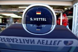 Pit equipment of Sebastian Vettel