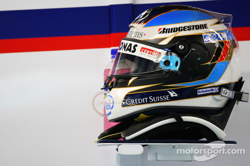 Helm von Nick Heidfeld, BMW Sauber F1 Team