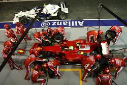 Felipe Massa, Scuderia Ferrari, F2008, Pitstop