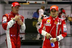 Pole winner Felipe Massa and third place Kimi Raikkonen