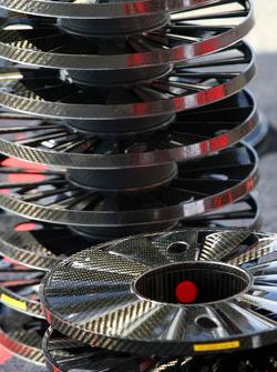 Toyota F1 Team wheels covers