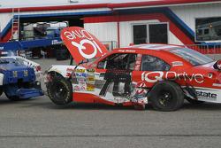 Wrecked car of Tony Raines