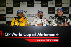 Post-race press conference with Loic Duval, driver of A1 Team France, Fairuz Fauzy, driver of A1 Team Malaysia and Earl Bamber, driver of A1 Team New Zealand