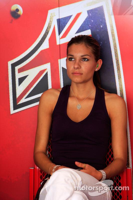 Casey Stoner's wife Adriana Tuchyna at Malaysian GP