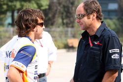 Fernando Alonso and co-owner Gerhard Berger
