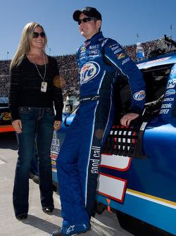 Kurt Busch and his wife Eva