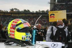 helmet of Jamie Green, Team HWA AMG Mercedes, AMG Mercedes C-Klasse