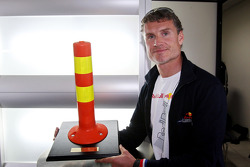 David Coulthard, Red Bull Racing, RB4 with a present of the FIA