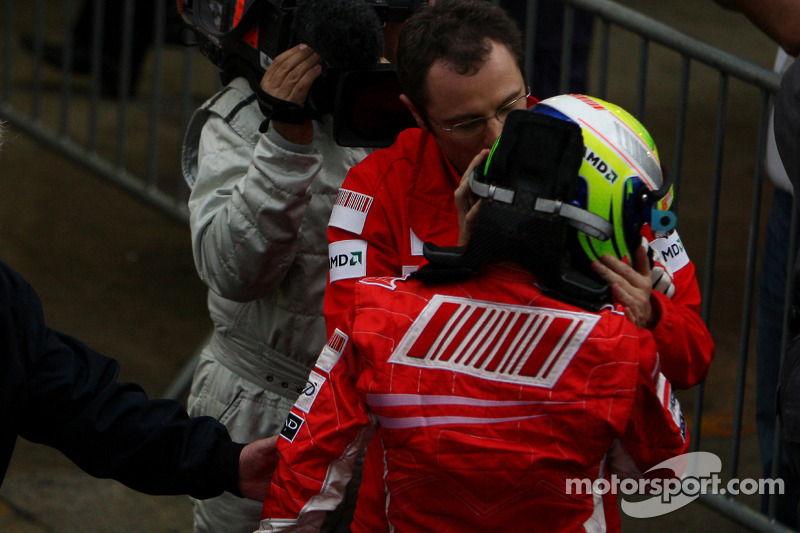 Race winner Felipe Massa and Stefano Domenicali