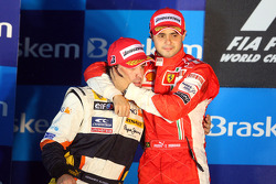 Podium: race winner Felipe Massa, second place Fernando Alonso