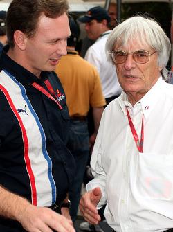 Christian Horner et Bernie Ecclestone