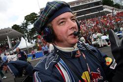 A Red Bull Racing team member