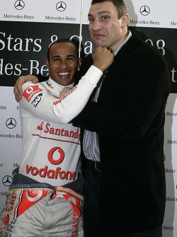 Deux champions du monde : Lewis Hamilton (Formule 1) et Vitali Klitschko (boxing)