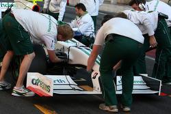 Front wing for Honda Racing F1 Team, Interim 2009 car, detail