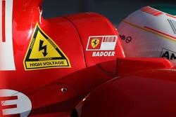 Luca Badoer, Test Driver, Scuderia Ferrari, sticker for KERS