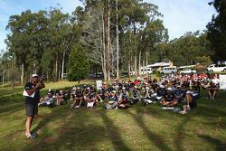 Launceston, Australia: Race director Tim Saul talks to the competitors