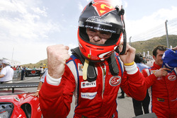 GT2 second place Gianmaria Bruni celebrates