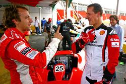 Luca Badoer and Michael Schumacher