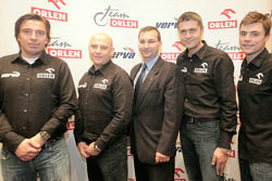 Orlen Team media presentation: Marek Dabrowski, Jacek Czachor, Krzysztof Holowczyc and Jakub Przygonski