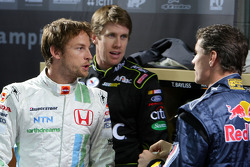 Jenson Button, Carl Edwards and David Coulthard