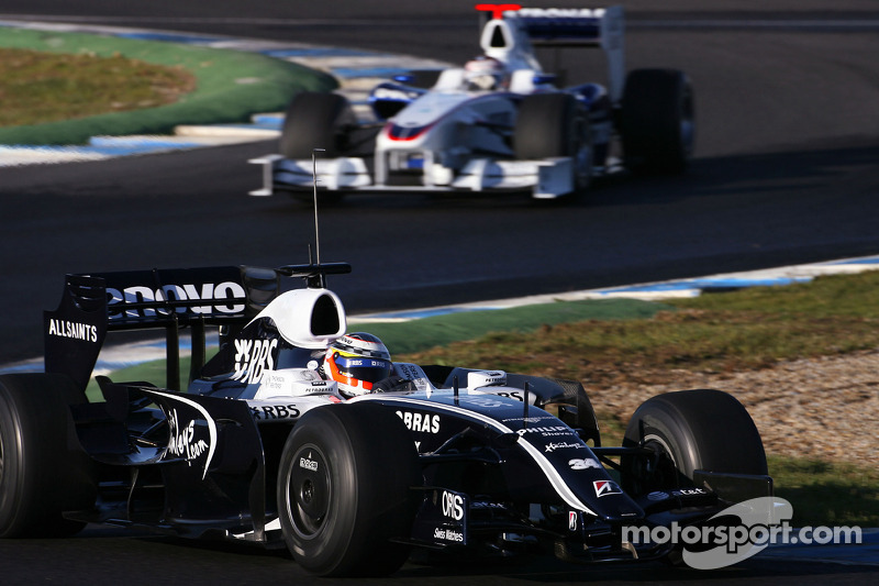 Nico Hulkenberg, Test Driver, WilliamsF1 Team, Christian Klien, Test Driver, BMW Sauber F1 Team