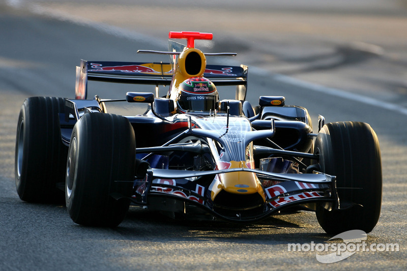Brendon Hartley, Test Driver, Red Bull Racing (2008)