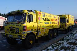 Loprais Tatra Team presentation: the Loprais Tatra Team service truck