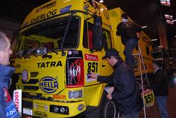 Loprais Tatra Team at scrutineering