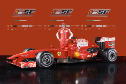 Luca Badoer with the new Ferrari F60