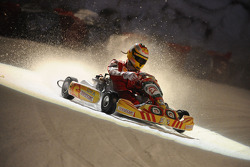Kart race on ice: Luca Badoer