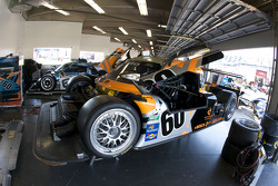 Michael Shank Racing garage area