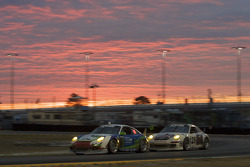 #85 Farnbacher Loles Racing Porsche GT3: Richard Campollo, Michael Gomez, Daniel Graeff, Wolf Henzler, Ron Yarab Jr., #26 Gotham Competition Porsche GT3: Gerardo Bonilla, Jerome Jacalone, Joe Jacalone, Shane Lewis, Randy Pobst