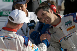 DP victory lane: race winner David Donohue celebrates with Joao Barbosa