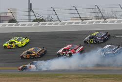 Aric Almirola, Earnhardt Ganassi Racing Chevrolet, spins in Turn 3