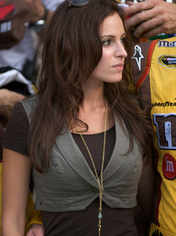Victory lane: Samantha Sarcinella, girlfriend of Kyle Busch