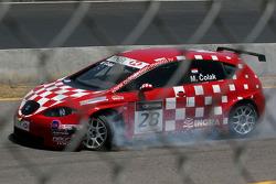 Marin Colak, Colak Racing Team Ingra, Seat Leon 2.0 TFSI with a broken tire